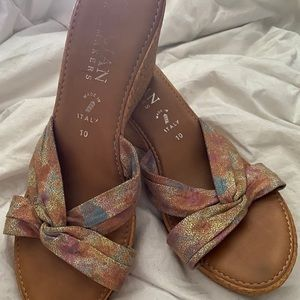 Italian wedge sandals size 10